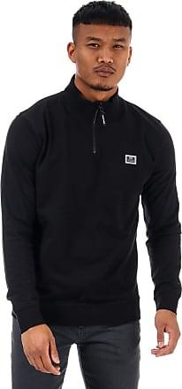 Weekend Offender Mens Mens Singha Half Zip Sweat in Black - XL
