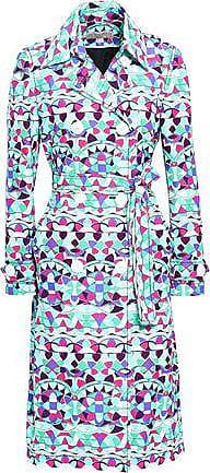 Emilio Pucci Emilio Pucci Woman Double-breasted Printed Cotton-blend Trench Coat Multicolor Size 40
