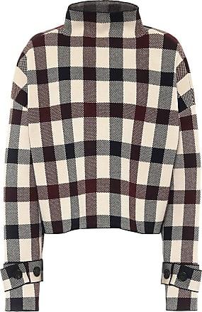 Victoria Beckham Checked mockneck sweater