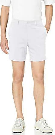 PGA TOUR Short de golf à devant plat pour homme avec ceinture active, blanc brillant, taille 42, entrejambe de 7 pouces