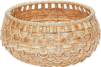Dimond Home ELK Home Fish Scale Basket in Natural Finish
