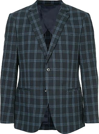 Durban checked suit blazer - Blue