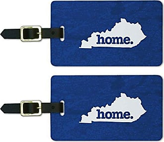Graphics & More Graphics & More Kentucky Ky Home State Luggage Suitcase Id Tags-Textured Navy Blue, White