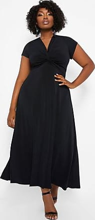 e26424ae4e0 Ashley Stewart Plus Size Knot Front Cap Sleeve Maxi Dress