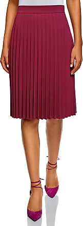 oodji Collection Womens Accordion Pleat Skirt, Pink, UK 14 / EU 44 / XL