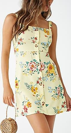 Forever 21 Forever 21 Floral Print Mini Dress Yellow/multi