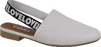 Yoki Womens ALEXA-02 Flat Sandal, White, 5.5 UK