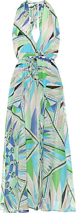 Emilio Pucci Printed cotton and silk maxi dress