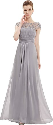 Ever-pretty Womens A Line Empire Waist Long Chiffon Mother of The Bride Dresses Grey 26UK