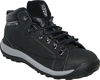 Groundwork Ladies GR387 Leather Uppers Smart/Casual LACE UP Steel Toe Cap Safety Boot Black 4
