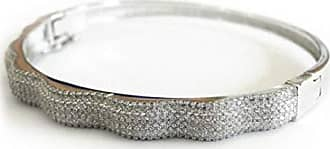 Boreale Joias Pulseira Prata 925 Bracelete Algema Pesada Zircônias Joia