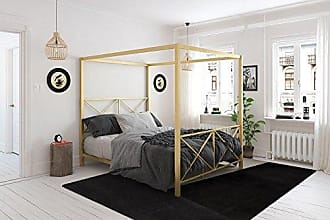 Dorel Home Products DHP Rosedale Canopy Bed, Gold, Full