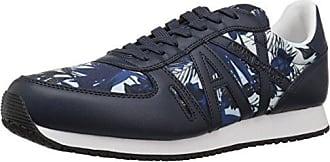 A|X Armani Exchange Mens Exotic Jungle Print Retro Running Fashion Sneaker White, 12 Medium US