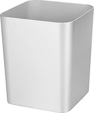 InterDesign Interdesign Metro Ultra Waste Can for Bathroom; Kitchen; Home Office - Silver