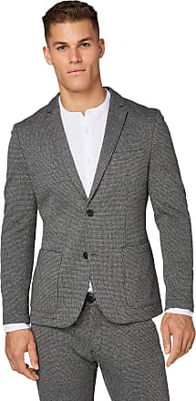 Tom Tailor Tom Tailor Casual Mens Hahnentritt Blazer, Grey (Grey Houndstooth 19393), 22 (Size: 48)