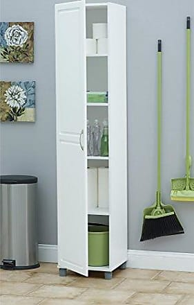 Dorel Home Products SystemBuild Kendall 16 Utility Storage Cabinet, White