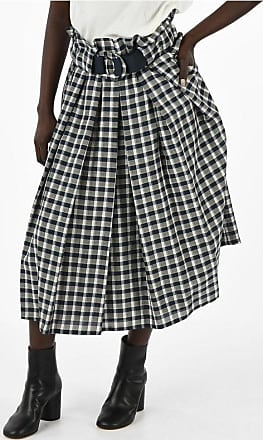 Drome Checked Linen Blend Skirt size S