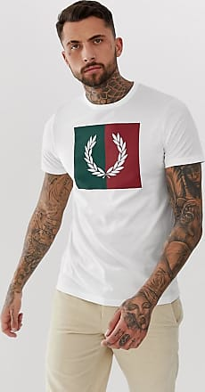 Fred Perry Camiseta blanca con corona de laurel en colour block de Fred Perry-Blanco