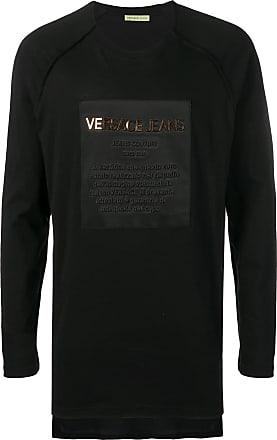 Versace Jeans Couture t-shirt à logo et manches longues - Noir afd75ba6a0e