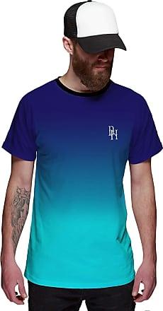 Di Nuevo Camiseta Azul Céu Degradê Azul Oceano Masculina