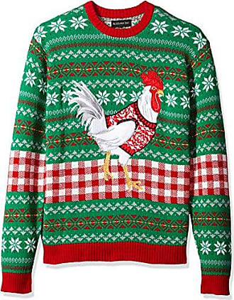 Blizzard Bay Mens White Chicken Ugly Christmas Sweater, XX-Large