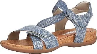 Remonte Womens Odense Adria Velcro Strap Sandals R3257-12 6.5 UK Silver