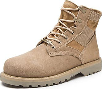 Santimon Herren Desert Stiefel Stiefeletten Nubukleder Schnüren Outdoor  Martin Schuhe Combat Boots Sneakers Kurzschaft Stiefel Sand 35a8e25a82