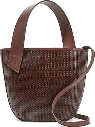 TL-180 Panier Saigon Woven Leather Shoulder Bag - Dark brown