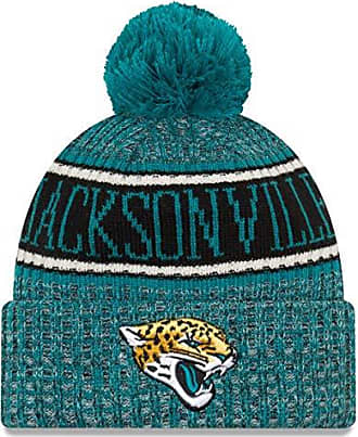 premium selection 33cd3 56fe5 New Era Jacksonville Jaguars Beanie NFL 2018 Sideline Sport Reverse Knit  Turquoise Black - One