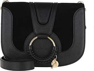 See By Chloé Cross Body Bags - Hana Crossbody Suede Smooth Small Black - black - Cross Body Bags for ladies