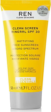 REN Skincare Clean Screen Mineral Mattifying Face Sunscreen Spf30, 50ml - Colorless