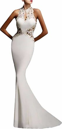 QIYUN.Z Womens Prom Evening Formal Party Dress Cocktail Backless Long Fishtail Maxi