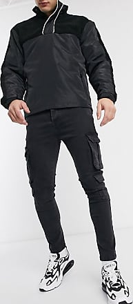 Brave Soul Schwarze Jeans mit Utility-Tasche