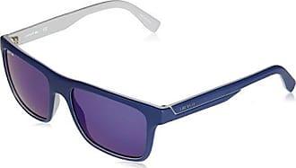 85997e614 Lacoste Mens L876s Plastic Square Stripes & Piping Sunglasses, Matte Blue/Grey,  57