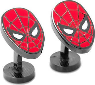 Zales Mens ©Marvel Spider-Man Enamel Cuff Links in Grey Rhodium Brass