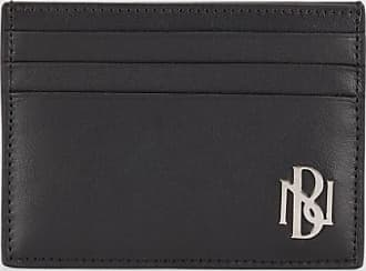 Neil Barrett Metal Monogram Leather Six Slots Cardholder