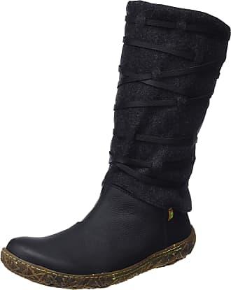 El Naturalista Womens Nido High Boots, Black (Black Black), 7 UK