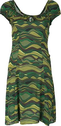 Amir Slama wave print dress - Green