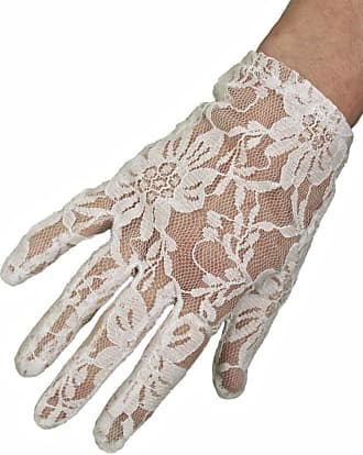 Dents Ladies ShortWhite Stretch Lace Dress/Evening/Wedding Gloves, wrist length