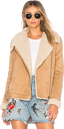 Tularosa Griffin Sherpa Coat in Nude