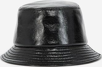 The Kooples Black bucket hat in coated technical fabric - WOMEN