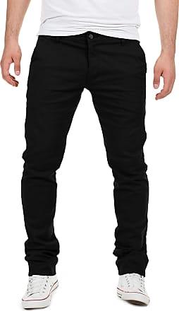 Yazubi Mens Trousers Chinos Pants Dustin Skinny Slim Fit Tall Dark Jet Matte, Black (4R194008), W33/L36