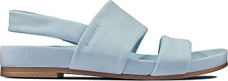 Clarks Pure Strap Leather Sandals in Standard Fit Size 6 Blue
