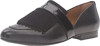 G.H. Bass & Co. Womens Harlow Pointed Toe Flat, Black, 7.5 M US