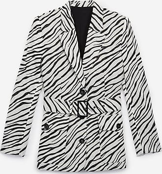 The Kooples Zebra printed linen jacket with belt - WOMEN