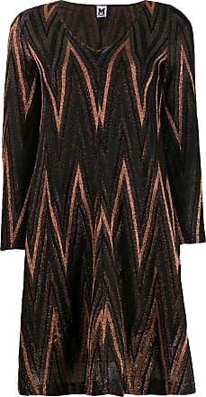 M Missoni Zigzag metallic knit dress - Preto