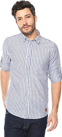 Dimy Camisa dimy Listras Branca/Azul