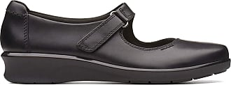 Clarks Hope Henley Leather Shoes in Black Standard Fit Size 7.5