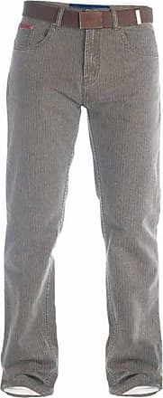 Duke London Mens Brian Bedford Cord Trousers with Belt (34S) (Brown)