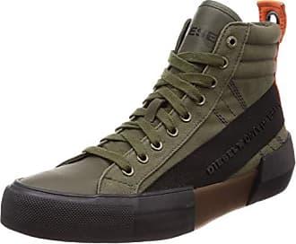 Diesel Mens S-DESE MC-Sneaker mid, Olive Night/Black 10.5 M US